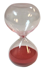 3 Minute Hourglass Red Sand Glass Brand New Guaranteed $5.99