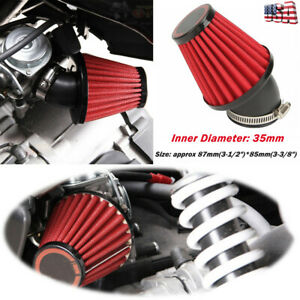 35mm Inlet Cold Air Intake Tapered 45 Degree Bend Motorcycle Air Filters Cleaner $13.99