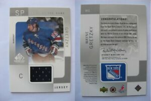 2000 01 SP Game Used WG Wayne Gretzky black tools of the game JERSEY $167.99