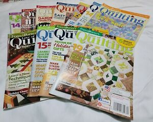 Lot of 12 Fons amp; Porter's Love Of Quilting Magazine 2004 2008 2009 2012 2013 $9.99