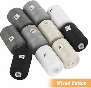 10 Pack Spools Sewing Thread Sets Mixed Cotton for Sewing Machine 1000 Yards $9.49