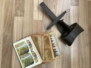 Nice Antique Wood Victorian 3 D Stereo Photo Viewer Stereoptican c1875 w Cards $25.00