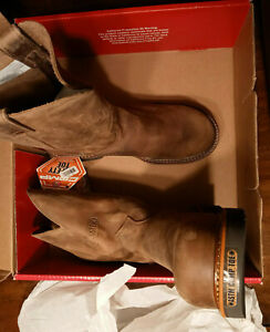 Mens Justin Work Boots size 11.5 Brown Pullon Bay Apache Comp Toe 11
