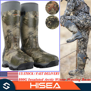 HISEA Apollo Pro Men Arctic Winter Hunting Boots 800G Insulated Muck Snow Boots
