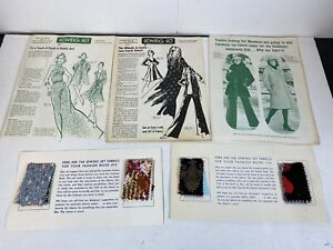 Vintage Sewing Set Booklets 1973 74 And Swatches AA2 $44.99