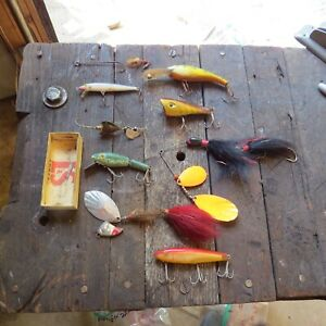 Vintage Lures Some Very Rare Lot of 9 Lot #4