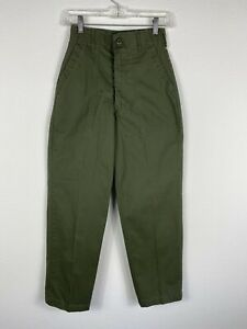 Vintage Army Green Pants Utility Trousers Size 24 28 Durable Press OG 507 $19.99