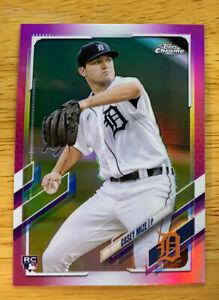 2021 Topps Chrome Casey Mize RC pink refractor $5.99