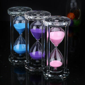 30 60 Minutes Sand Glass Hourglass Timer Clock Kitchen Home Office Decor Items $26.06