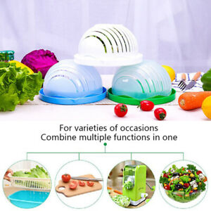 Salad Cutter Bowl Vegetable and Fruit Cutting Bowl Healthy FreshEasy toOperaY CA