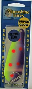 MOONSHINE LURES GLOW IN THE DARK CASTING SPOON 1 OZ. JJ MAC MUFFIN 234