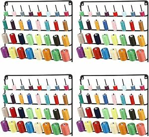 4Pack Sewing amp; Embroidery Thread Rack Wall Mount Metal Sewing Organizer 32 Spool $41.99