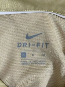 Nike Mens Cream Solid Short Sleeves Casual Collared Golf Polo Shirt Size XL $19.79