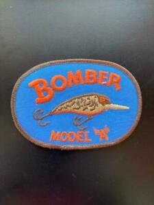 Vintage BOMBER MODEL quot;Aquot; Fishing Lure Iron on Patch 3quot; X 4quot; New Old Stock