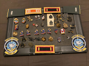 Lot of Vintage Military Patches and Pins 40 Plus $39.99