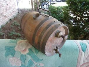 Vintage or Antique Wooden Powder Water Keg Banded Small Whiskey Barrel $75.00