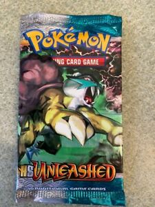 Rare Sealed Pokemon HS Unleashed Booster Pack Lot H Free Shipping $105.00