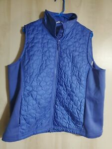 L.L. Bean Women#x27;s blue Quilted Vest Size 1X with Pockets $24.99