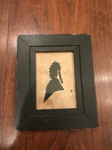 Antique 19th Century Silhouette Of A Woman With Original Frame $225.00