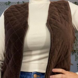 Womens Vest Brown Quilted Size M $29.99