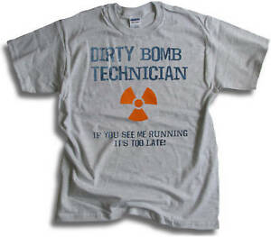 Funny Dirty Bomb Tech If You See Me Running Its Too Late Mens T shirt  Sm 3XL