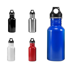 Wide Mouth 17 oz, 500 mL Stainless Steel Water Bottle - BPA Free
