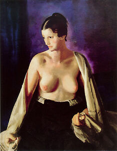 Nude with White Shawl c. 1919- George Bellows Nudes in Art- Canvas Art