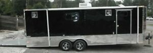 Enclosed Trailer 8.5#x27;x24#x27; Custom Car Motorcycle Bike Hauler
