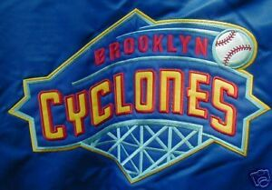 BROOKLYN CYCLONES SATIN JACKET MEDIUM NEW METS NY PENN FREE SHIPPING