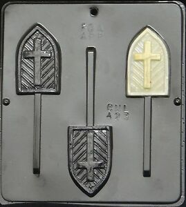 Cross on Window Chocolate Candy Mold Religious  423 NEW
