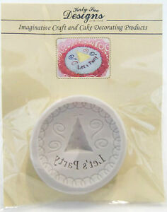 Katy Sue Designs Let's Party Hat Cupcake Decorating Food Safe Silicone Mold