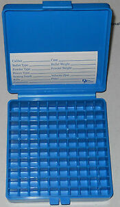 DILLON PLASTIC AMMO BOXES (2) 100rd 9mm-.30Luger-.380 WLABELS FOR RELOADING