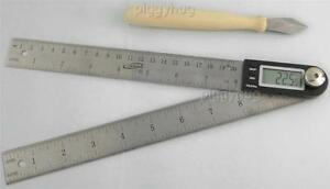 iGaging electronic digital protractor 10quot;miter gauge angle ruler lithium battery $16.95