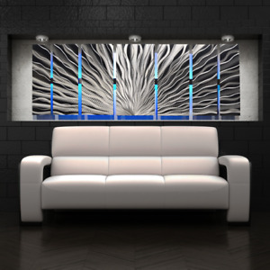 Color Changing LED Modern Abstract Metal Wall Art Sculpture Painting Decor RGB $249.95