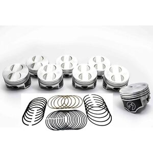 Speed Pro TRW Ford 289 302 5.0 Forged Coated Flat Top PistonsMOLY Rings Kit 30 $357.76