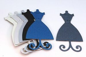 Dress Form Shimmer Chipboard Die Cut Embellishment sticker avail. Silver Pearl
