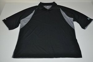 MIZUNO GOLF DRY FIT LITE BLACK GRAY POLO SHIRT MENS SIZE EXTRA LARGE XL