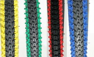 2 BICYCLE TIRES 26quot; X 2.10 VEE RUBBER 2 TONE COLORS MTB BMX CRUISER CYCLING BIKE