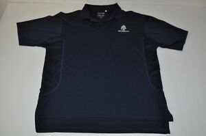 ADIDAS REUNION CLIMA COOL GOLF DRY FIT NAVY BLUE POLO SHIRT MENS SIZE MEDIUM M