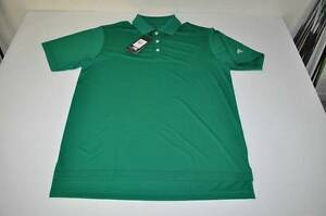 ADIDAS GOLF DRY FIT CLETIC GREEN POLO SHIRT MENS SIZE MEDIUM M NE