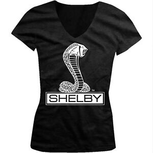 Ford Shelby Cobra Logo Mustang 5.0 Racing Muscle Car GT500 Juniors Vneck T-shirt