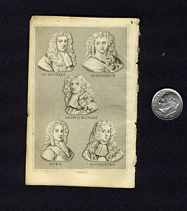 Lord Russell Dillon Price Rupert Roscommon Rowe Antique Portraits Print 1841 $10.99
