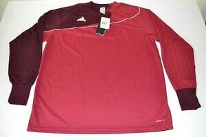 ADIDAS FOOTBALL SOCCER BURGUNDY RED DRY FIT SHIRT MENS SIZE XL NEW