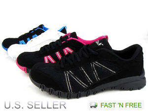 Women#x27;s Casual Sneaker Athletic Tennis Shoes Walking Running Lace Up Suede