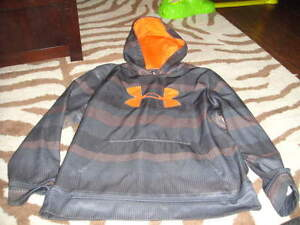 UNDER ARMOUR YLG LARGE BLUE ORANGE HOODIE BOYS
