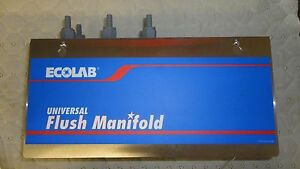 New Ecolab Universal Flush Manifold- Commercial Laundry Washer
