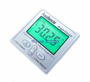 Accuremote Angle Cube Digital Angle Protractor Inclinometer Gauge w Back light $32.99