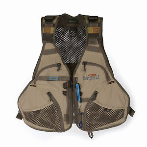 FISHPOND FLINT HILLS MESH FLY FISHING VEST FREE U.S. SHIPPING--CLAY COLOR NEW