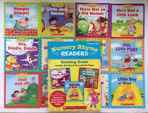 Nursery Rhyme Readers and Teaching Guide Preschool Children#x27;s Books Lot 12