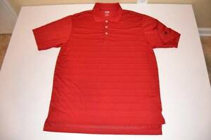 ADIDAS SPORTS GOLF DRY FIT RED POLO SHIRT MENS SIZE LARGE L